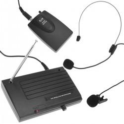 Micrófono inalámbrico de petaca manos libres VHF 200 - 280 MHz
