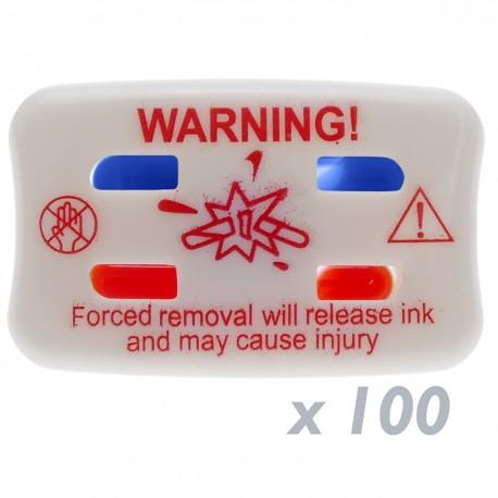 Pin marcador de tinta para etiqueta antihurto EAS RF 8.2MHz 100 unidades