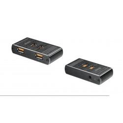 Cargador USB Smart Charge 4 puertos 3.5A Máx. aluminio negro