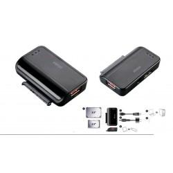 "Adaptador USB 3.0 - HDD/SSD Sata 2.5/3.5"" con puerto USB fast charge"