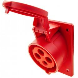 Base de enchufe industrial CETAC hembra 2P+T 32A 380V IP44 IEC-60309 para empotrar