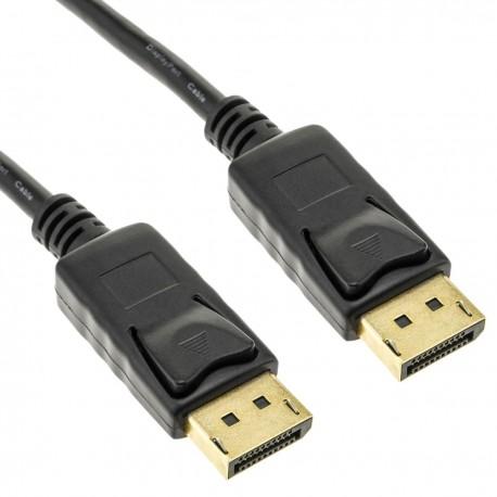 Cable Displayport 1080p FullHD para transmisión de audio y vídeo digital de 1 m color negro