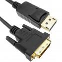 Cable de vídeo DisplayPort macho a DVI-D macho 2 m