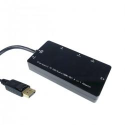 Adaptador de DisplayPort a VGA audio HDMI DVI negro
