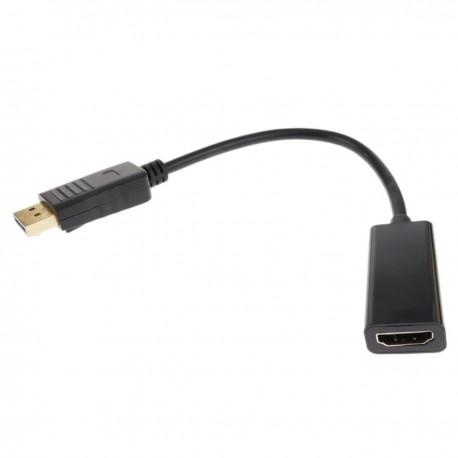 Adaptador DisplayPort macho a HDMI-A hembra con cable de 15 cm