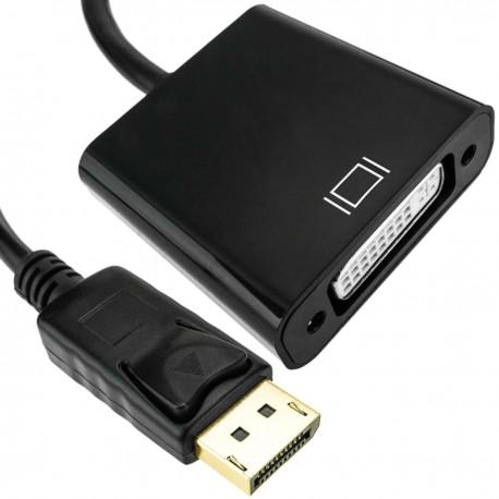 Adaptador DisplayPort macho a DVI-D hembra con cable de 20 cm