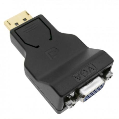 Adaptador compacto de DisplayPort macho a VGA hembra