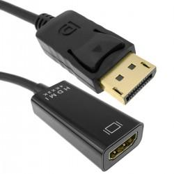 Cable adaptador de vídeo 4K 10cm de DisplayPort DP macho a HDMI hembra 1080p FullHD 2K 4K