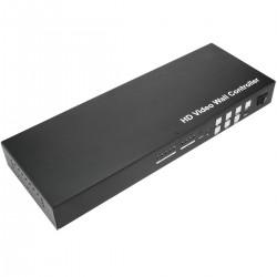 Videowall matriz de vídeo de 4 pantallas 2x2 1x4 4x1 HDMI CVBS VGA USB ampliable