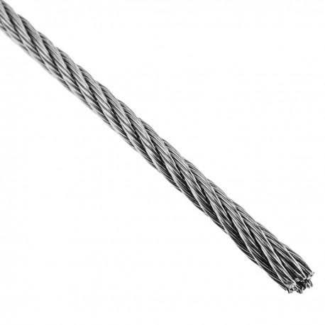Cable de acero inoxidable de 4,0 mm en bobina de 25 m