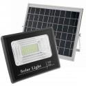 Foco de luz LED de 40W para exterior IP65 con batería recargable 10000 mAh y panel solar