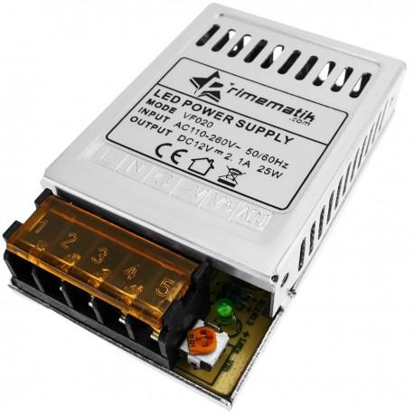 Fuente de alimentación. Transformador eléctrico industrial 12VDC 2.1A