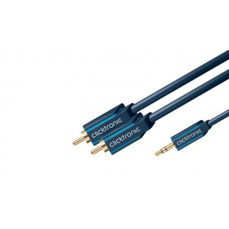 Cable multimedia ClickTronic HQ OFC 2xRCA a 1x Jack M/M