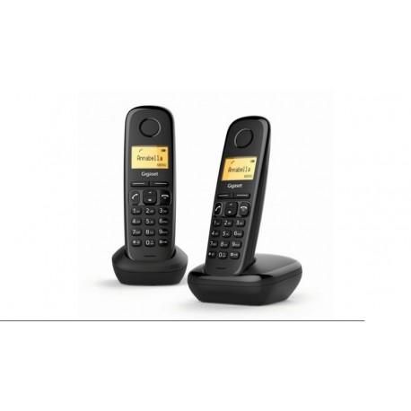Teléfono inhalámbrico Gigaser A170 Duo negro