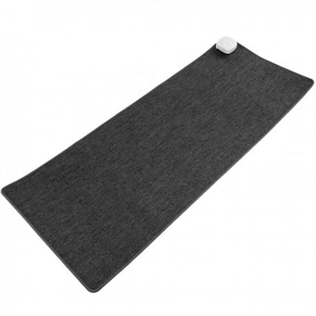Alfombra y superficie térmica gris oscuro de 80x32cm 77W con calefacción para escritorio suelo y pies