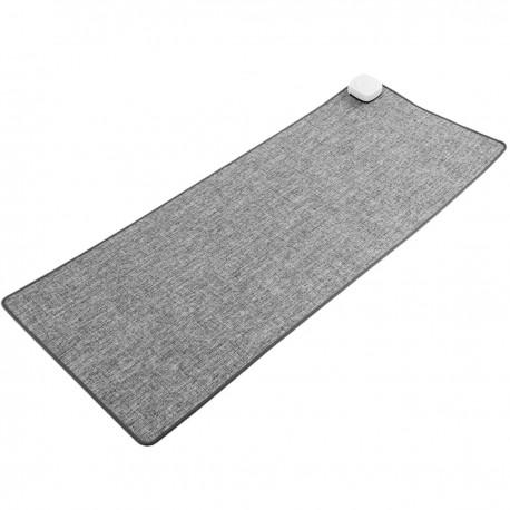 Alfombra y superficie térmica gris claro de 80x32cm 77W con calefacción para escritorio suelo y pies