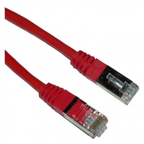 Cable FTP categoría 5e rojo 2m