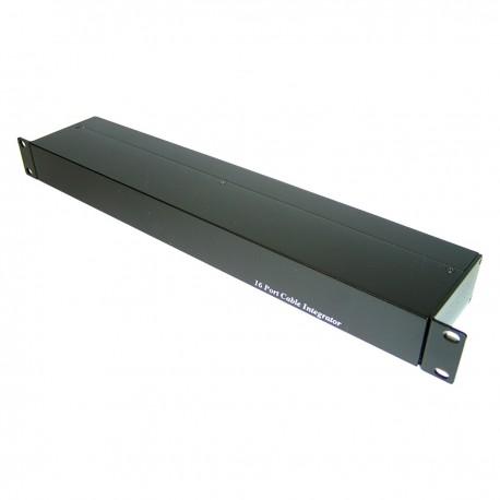 "Cable concentrador UTP rack 19"" de 16 RJ45 a 4 RJ45 con DC TDP016"