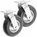 """Rueda neumática giratoria 2-pack 90 Kg 8x2.5"""" 203x64 mm para carros y plataformas de transporte"""
