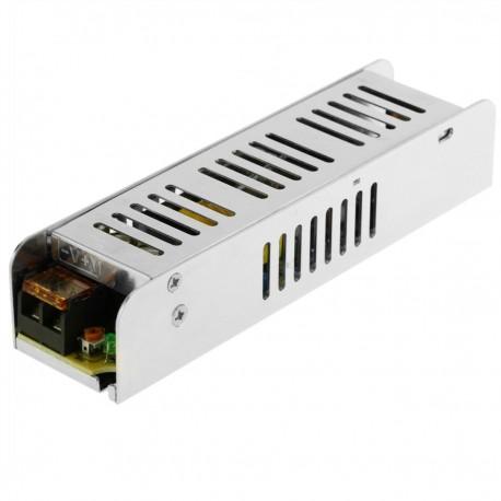 Fuente de alimentación. Transformador eléctrico industrial 12VDC 5A. Tamaño 40 x 159 x 32 mm