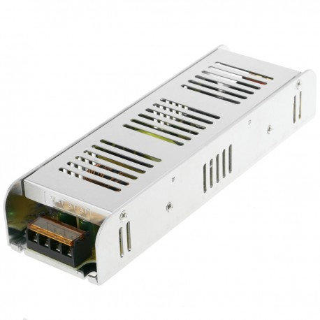 Fuente de alimentación. Transformador eléctrico industrial 12VDC 16.7A. Tamaño 68 x 222 x 40 mm