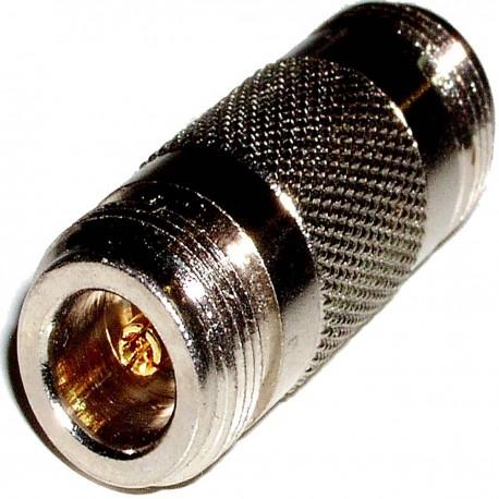Adaptador coaxial RF de conector N hembra a N hembra