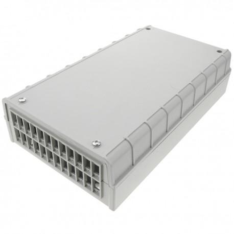 Caja de terminales de conexión de fibra óptica de plástico beige de 24 puertos SC