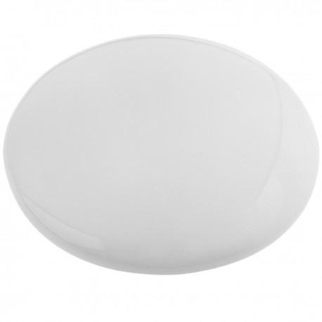 Reflector de carretera cerámico redondo de 10 cm blanco