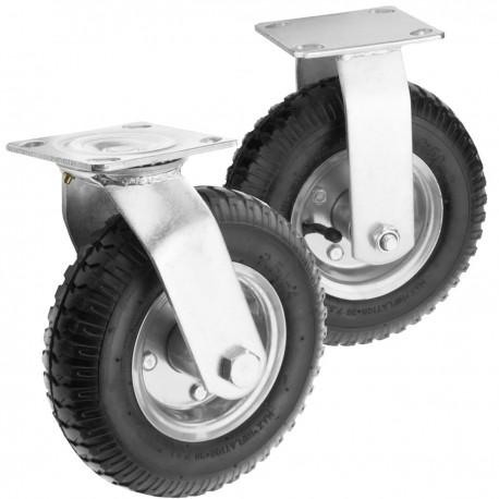 """Rueda neumática 4-pack 90 Kg 8x2.5"""" 203x64 mm para carros y plataformas de transporte"""