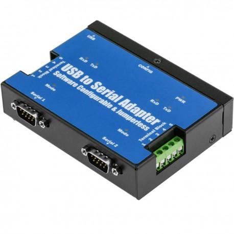 Adaptador USB a RS-422 RS485 VSCOM PRO 2-Port DINRail USB-2COMi PRO