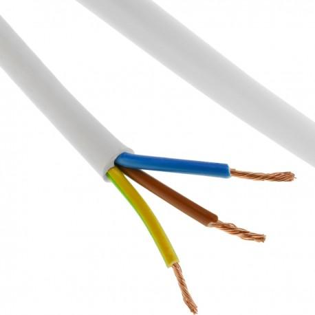 Bobina de cable eléctrico 100 m blanco 3x2.5mm
