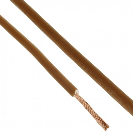 Bobina de cable eléctrico LSHF 200 m marrón 1.5mm