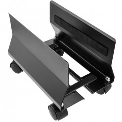 Soporte para ordenador PC metálico con ruedas de color negro de 95 a 230 mm