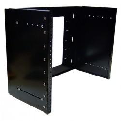 """Estructura rack 19"""" de 8U configurable en produndidad para instalación a pared"""