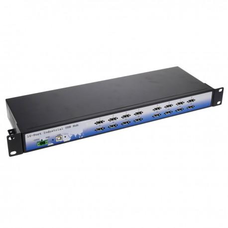 Concentrador de 16 puertos USB industrial rack 19