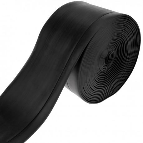 Rodapié flexible autoadhesivo 70 x 20 mm. Longitud 5 m negro