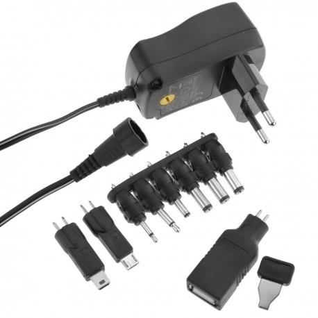 Alimentador universal 100-240 VAC a DC multi-voltaje 7.2 W