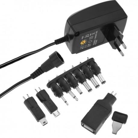 Alimentador universal 100-240 VAC a DC multi-voltaje 27 W