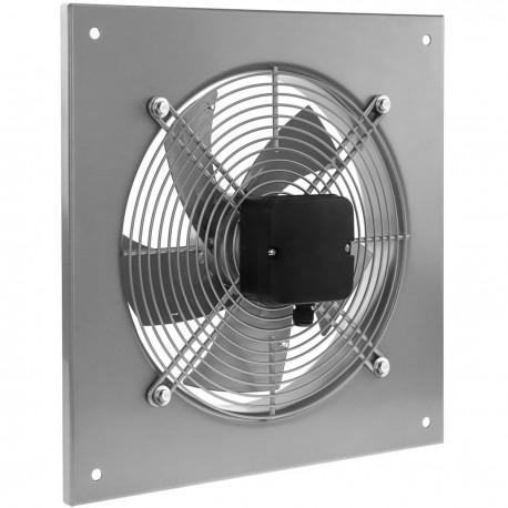 Extractor de aire de pared de 300 mm para ventilación industrial 2550 rpm cuadrado 430x430x64 mm plateado