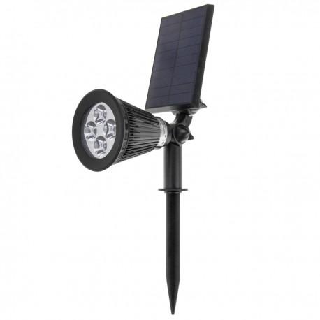 Foco LED Solar IP44 2W 200LM con estaca para jardín