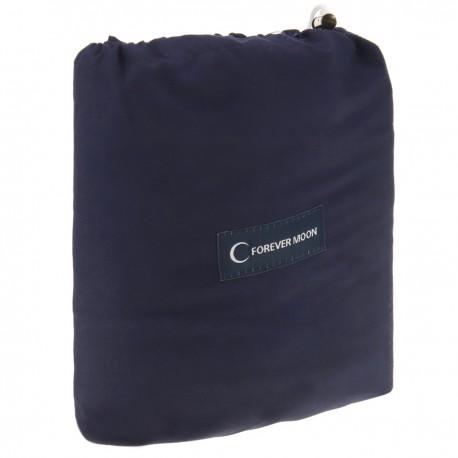 Saco de dormir de viaje 180 x 210 cm microfibra azul