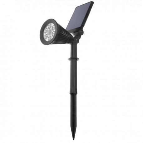 Foco LED Solar IP44 3W 300LM con estaca para jardín