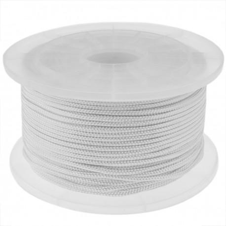 Cuerda trenzada de poliéster 100 m x 3 mm blanca