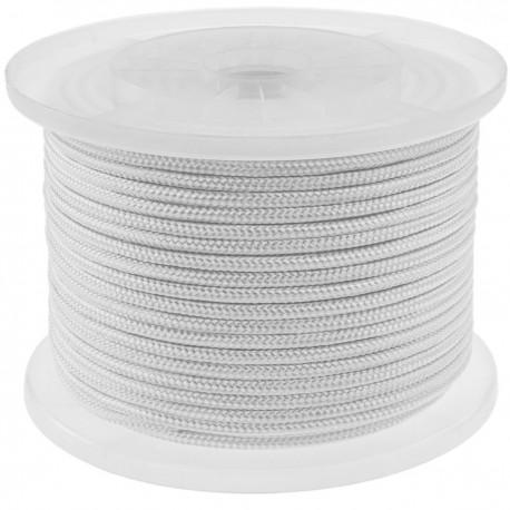 Cuerda trenzada de nailon 100 m x 6 mm blanca