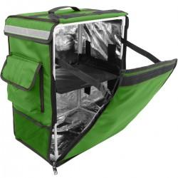 Mochila isotérmica para entrega de pedidos de comida en moto y bicicleta verde 35 x 25 x 49 cm