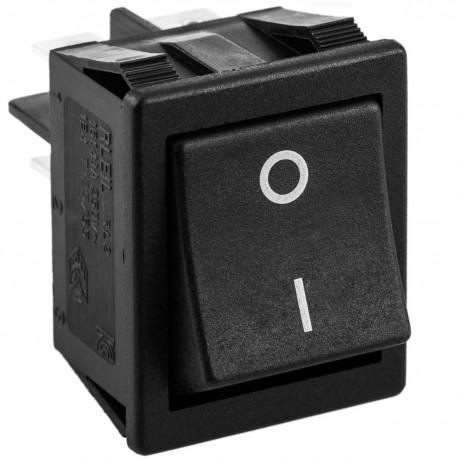 Interruptor basculante negro DPST 4 pin