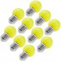 Bombilla LED G45 E27 230VAC 0,5W luz amarilla 10 pack