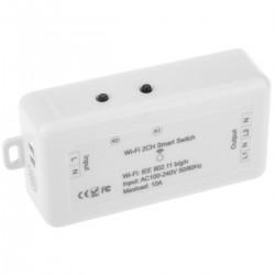 Interruptor inteligente WiFi de 2 canales compatible con Google Home, Alexa y IFTTT