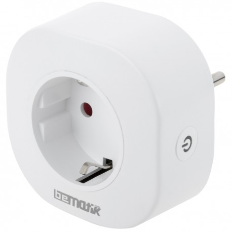 Enchufe inteligente 10A 2200W WiFi Blanco compatible con Google Home, Alexa y IFTTT
