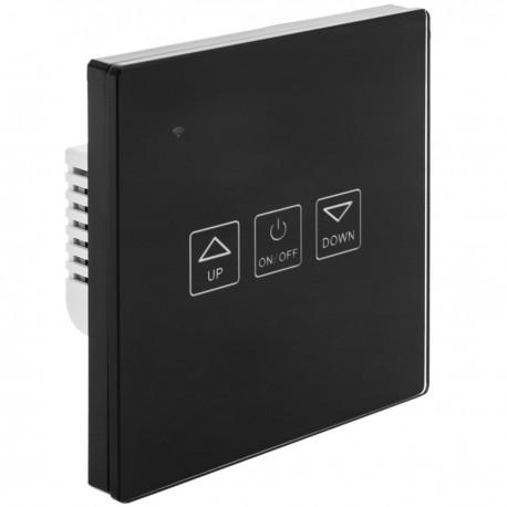 Interruptor inteligente táctil regulable en color negro compatible con Google Home, Alexa y IFTTT